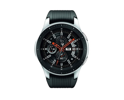 Description: amsung Galaxy Bluetooth Black Dial Silicone Strap Smartwatch - Silver